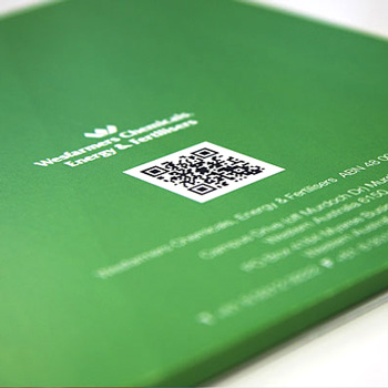 A QR code in use on WesCEF's recruitment literature.