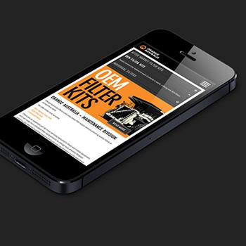 Mobile friendly web design for Orange Filters.