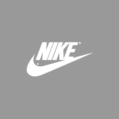The Nike logo design updated in the 1980's.