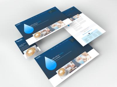 Aqualife-Isometric Web Pages Mockup